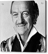 David Niven In Trail Of The Pink Panther  Acrylic Print by Silver Screen
