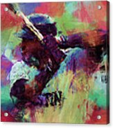 David Ortiz Abstract Acrylic Print