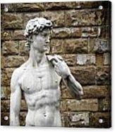 David Statue Acrylic Print