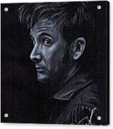 David Tennant 3 Acrylic Print by Rosalinda Markle