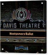 David Theatre Neon - Montgomery Alabama Acrylic Print