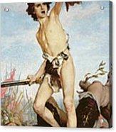 David Victorious Over Goliath Acrylic Print