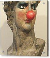 David With Makeup And Clown Nose 1 Acrylic Print