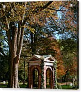 Davidson College Old Well In Autumn Acrylic Print