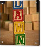 Dawn - Alphabet Blocks Acrylic Print