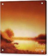 Dawn Arkansas River Acrylic Print by Ann Powell