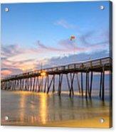 Dawn At Avalon Pier Acrylic Print