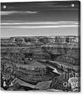 Dawn At Dead Horse Point Bw Acrylic Print