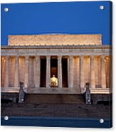 Dawn At Lincoln Memorial Acrylic Print