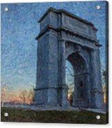 Dawn At The Arch Acrylic Print