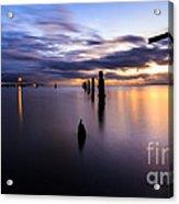 Dawn Breaks Over The Pier Acrylic Print