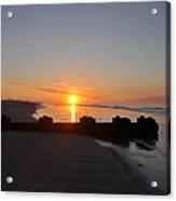 Dawn By The Ocean Acrylic Print