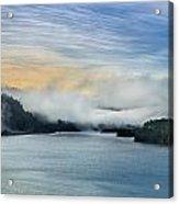 Dawn Fog On Klamath River Acrylic Print