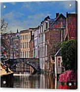 Dawn In Bruges Acrylic Print