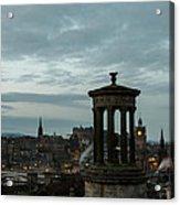Dawn In Edinburgh Acrylic Print