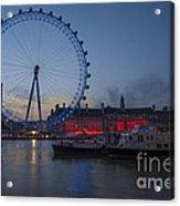 Dawn Light At The London Eye Acrylic Print by Donald Davis