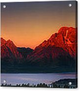 Dawn Light On The Tetons Grant Tetons National Park Wyoming Acrylic Print