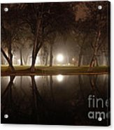 Dawn Mist Rising At Sycamore Pool  Acrylic Print