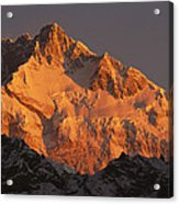Dawn On Kangchenjunga Talung Acrylic Print