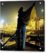 Dawn On The Ganges Acrylic Print