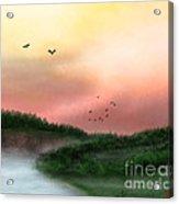 Dawn On The Lake Acrylic Print