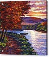 Dawn On The River Acrylic Print by David Lloyd Glover