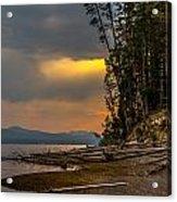Dawn On Yellowstone Lake Shore Acrylic Print