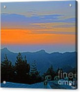 Dawn Over Cross Forest Acrylic Print