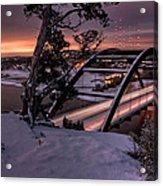 Dawn Over Snowy Austin Acrylic Print