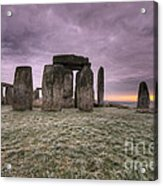 Dawn Over The Stones  Acrylic Print