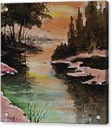 Dawn Snow On A Sunny Morning Acrylic Print