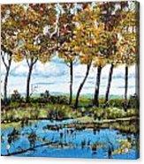 Dawn's Blue Waters Edge  Acrylic Print