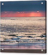 Dawns Red Sky Reflected Acrylic Print