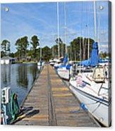 Sailboats On The Boardwalk Acrylic Print
