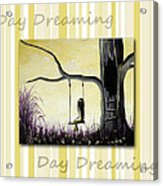 Day Dreaming In Yellow By Shawna Erback Acrylic Print by Shawna Erback
