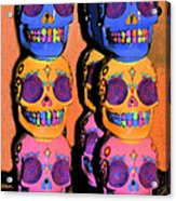 Day Of The Dead Ink Acrylic Print