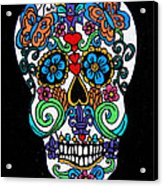 Day Of The Dead Skull Acrylic Print
