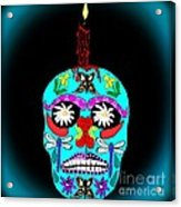 Day Of The Dead Sugar Skull Acrylic Print