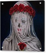 Day Of The Dead Veiled Bride Acrylic Print