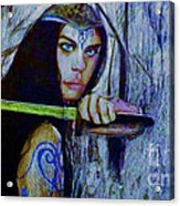 Dayanna To Battle Acrylic Print