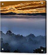 Daybreak Coming To The Smoky Mountains E150 Acrylic Print
