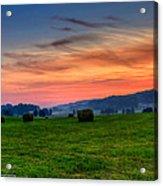 Daybreak On The Farm Acrylic Print by Paul Herrmann