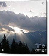 Daybreak Over Lepontine Alps Acrylic Print