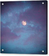 Daylight Moon Acrylic Print by Robert J Andler