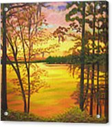Day's End On Lake Talquin Acrylic Print