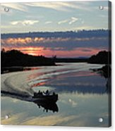 Day's End On The Sebec River Acrylic Print