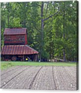 Days Gone By--tobacco Barn Series  Acrylic Print