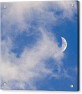 Daytime Moon Acrylic Print