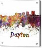 Dayton Skyline In Watercolor Acrylic Print