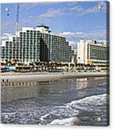 Daytona Beach Panorama Acrylic Print